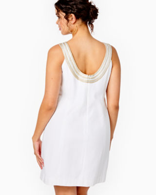 Valli Shift Dress, Resort White, large 1