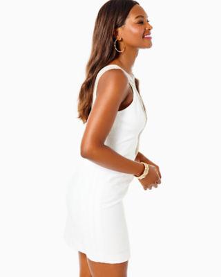Valli Shift Dress, Resort White, large 2