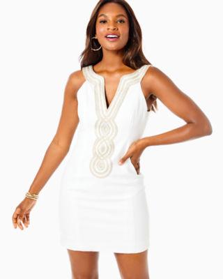 Valli Shift Dress, Resort White, large 3