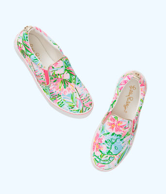 Julie Sneaker, Multi Pop Up Lilly Of The Jungle Accessories, large 2