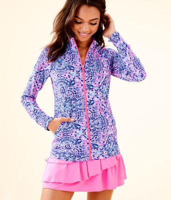 UPF 50+ Luxletic Hadlee Jacket, Pink Tropics Call My Shell Phone, large 0