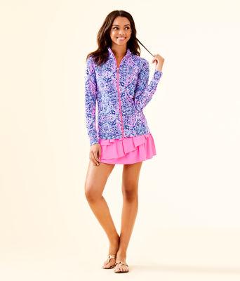 UPF 50+ Luxletic Hadlee Jacket, Pink Tropics Call My Shell Phone, large 2