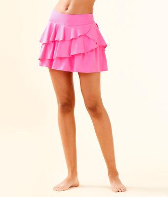 UPF 50+ Luxletic Gabby Active Skort, Pink Tropics, large