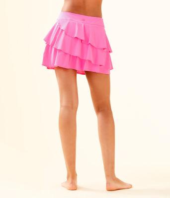 UPF 50+ Luxletic Gabby Active Skort, Pink Tropics, large 1