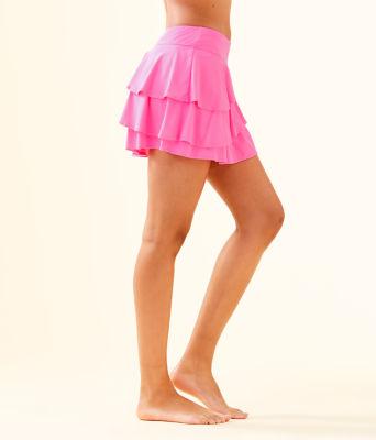 UPF 50+ Luxletic Gabby Active Skort, Pink Tropics, large 2