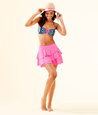 UPF 50+ Luxletic Gabby Active Skort, Pink Tropics, large 3