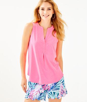 Raisa Top, Pink Tropics, large