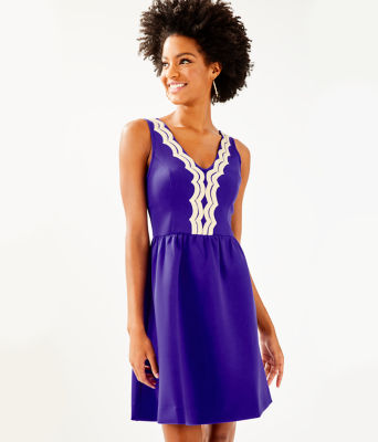 Rorey Dress, Royal Purple, large