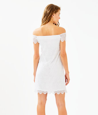 Jade Dress, Resort White Scalloped Shell Lace, large 1