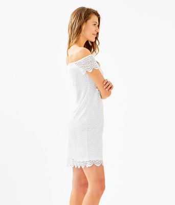 Jade Dress, Resort White Scalloped Shell Lace, large 2