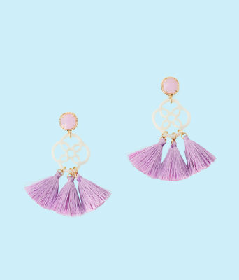 Sandpiper Earrings, Light Lilac Verbena, large