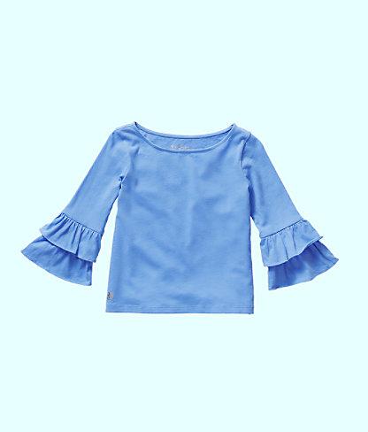 Girls Mazie Top, Coastal Blue, large 0