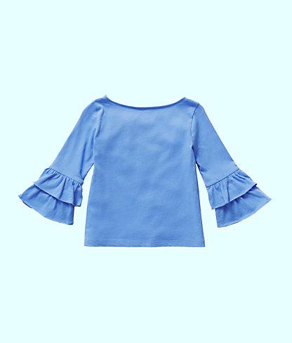 Girls Mazie Top, Coastal Blue, large 1