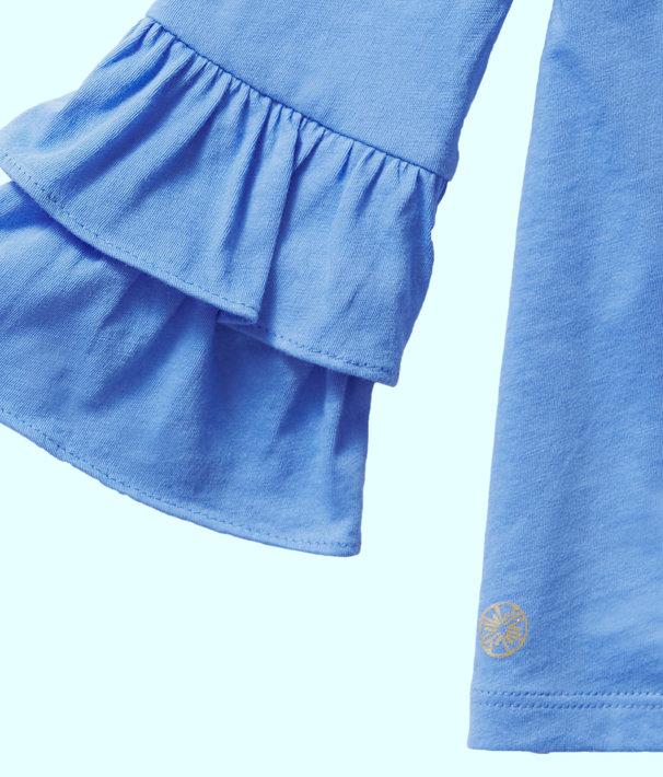 Girls Mazie Top, Coastal Blue, large