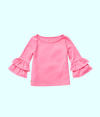 Girls Mazie Top, Pink Tropics, large