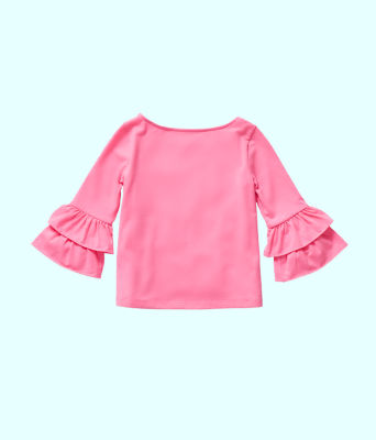 Girls Mazie Top, Pink Tropics, large 1