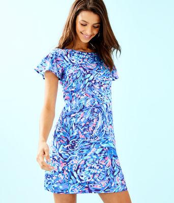 Marah Dress, Royal Purple Party Wave, large