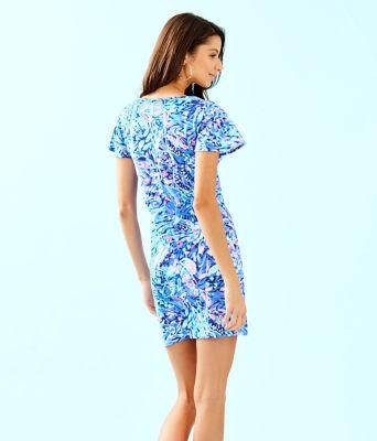 Marah Dress, Royal Purple Party Wave, large 1