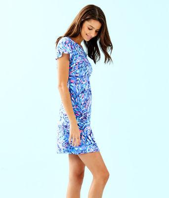 Marah Dress, Royal Purple Party Wave, large 2