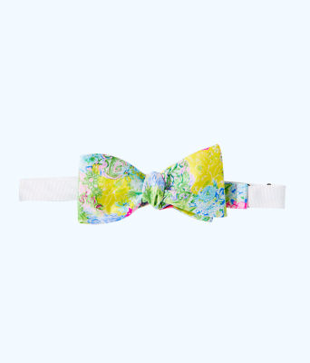 Mens Silk Bow Tie, Multi Cheek To Cheek Tie, large 0