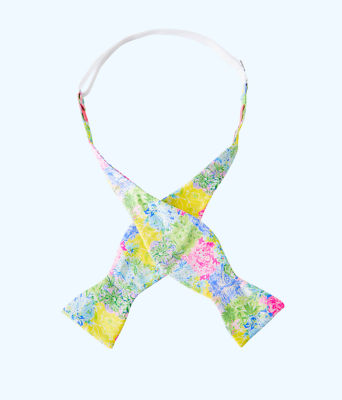 Mens Silk Bow Tie, Multi Cheek To Cheek Tie, large 1
