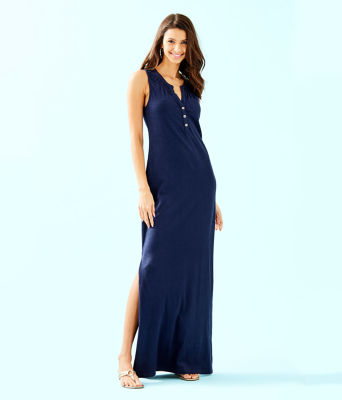 Essie Maxi Dress, True Navy, large 0