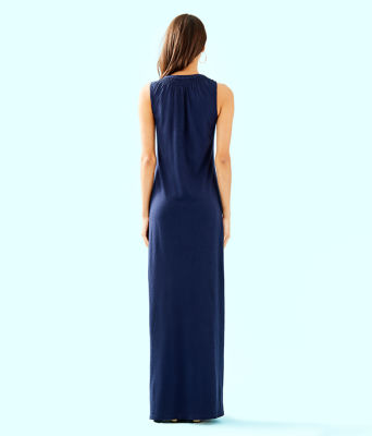 Essie Maxi Dress, True Navy, large