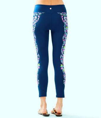 "UPF 50+ 24"" Weekender Midi Legging, Inky Navy Glow And Flow Engineered Legging Graphic, large 1"