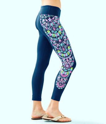 "UPF 50+ 24"" Weekender Midi Legging, Inky Navy Glow And Flow Engineered Legging Graphic, large 2"