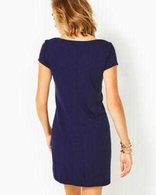 Brewster T-Shirt Dress, True Navy, large