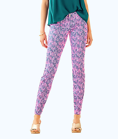 "29"" Kelly Ankle Length Skinny Pant, Mandevilla Pink Slathouse Stripe, large"
