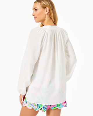 Elsa Silk Top, Resort White, large 1