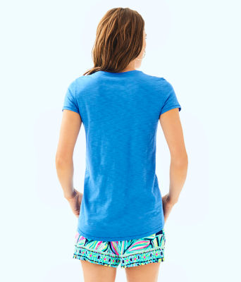 Etta V-Neck Top, Bennet Blue, large 1
