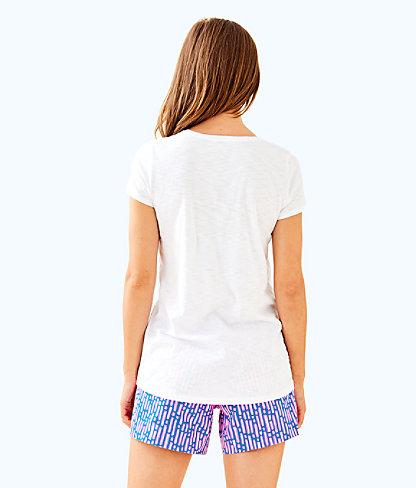 Etta V-Neck Top, Resort White, large 1