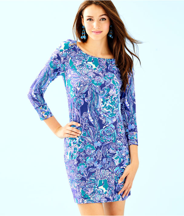 UPF 50+ Sophie Dress, Royal Purple Cat Call, large