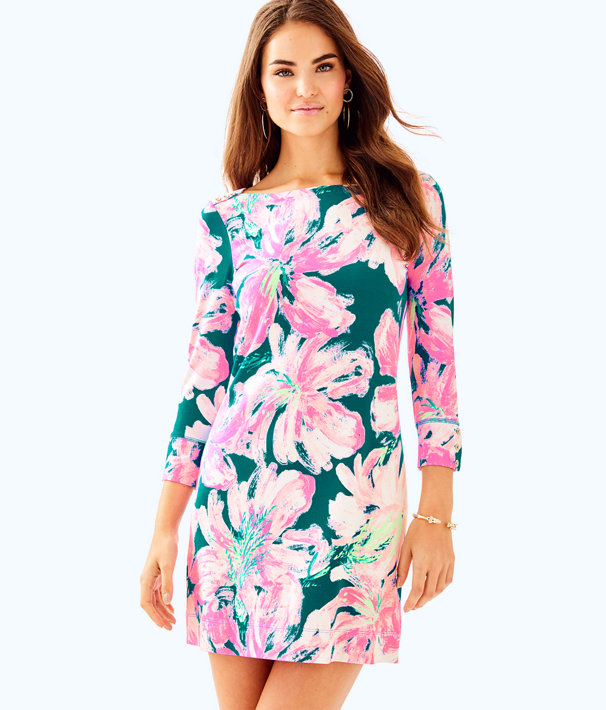 UPF 50+ Sophie Dress, Tidal Wave Pans Garden, large