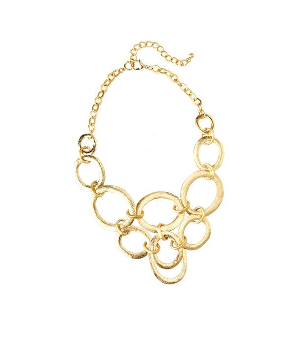 Ringleader Statement Necklace, Gold Metallic, large