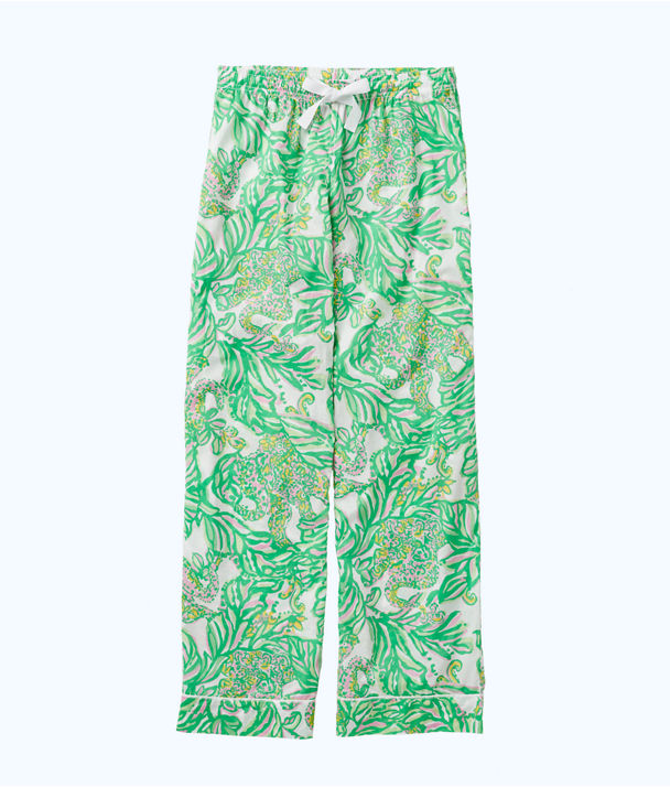 Printed Pajama Pant, Resort White Seeing Pink Elephants Small, large