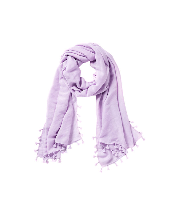 Lana Scarf, Light Lilac Verbena, large