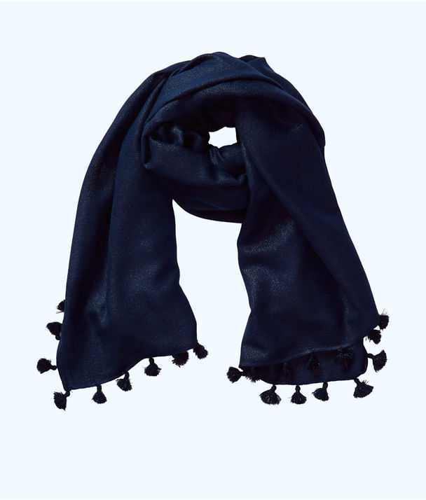Lana Scarf, True Navy, large