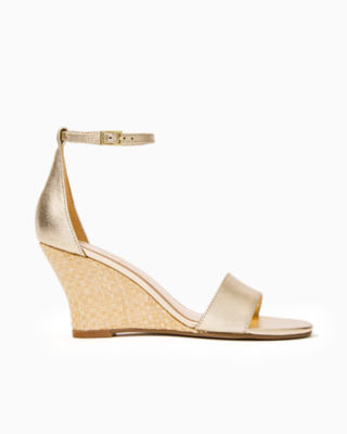 Bridgette Wedge, Gold Metallic, large