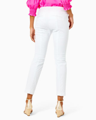 """29"""" Kelly Textured Ankle Length Skinny Pant, Resort White, large 1"""