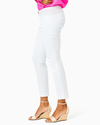 """29"""" Kelly Textured Ankle Length Skinny Pant, Resort White, large"""