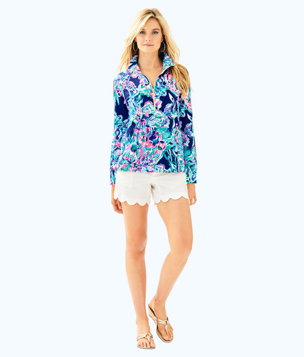 UPF 50+ Skipper Printed Popover, Bright Navy Caught Up, large