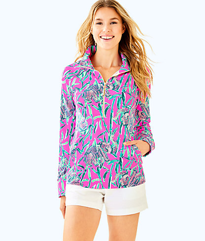 UPF 50+ Skipper Printed Popover, Mandevilla Pink Extra Lucky, large