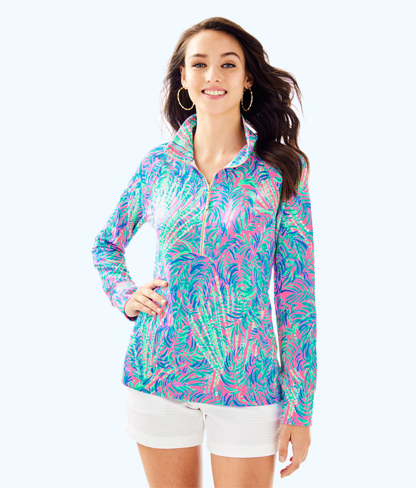 UPF 50+ Skipper Printed Popover, Pink Sunset Coco Breeze, large