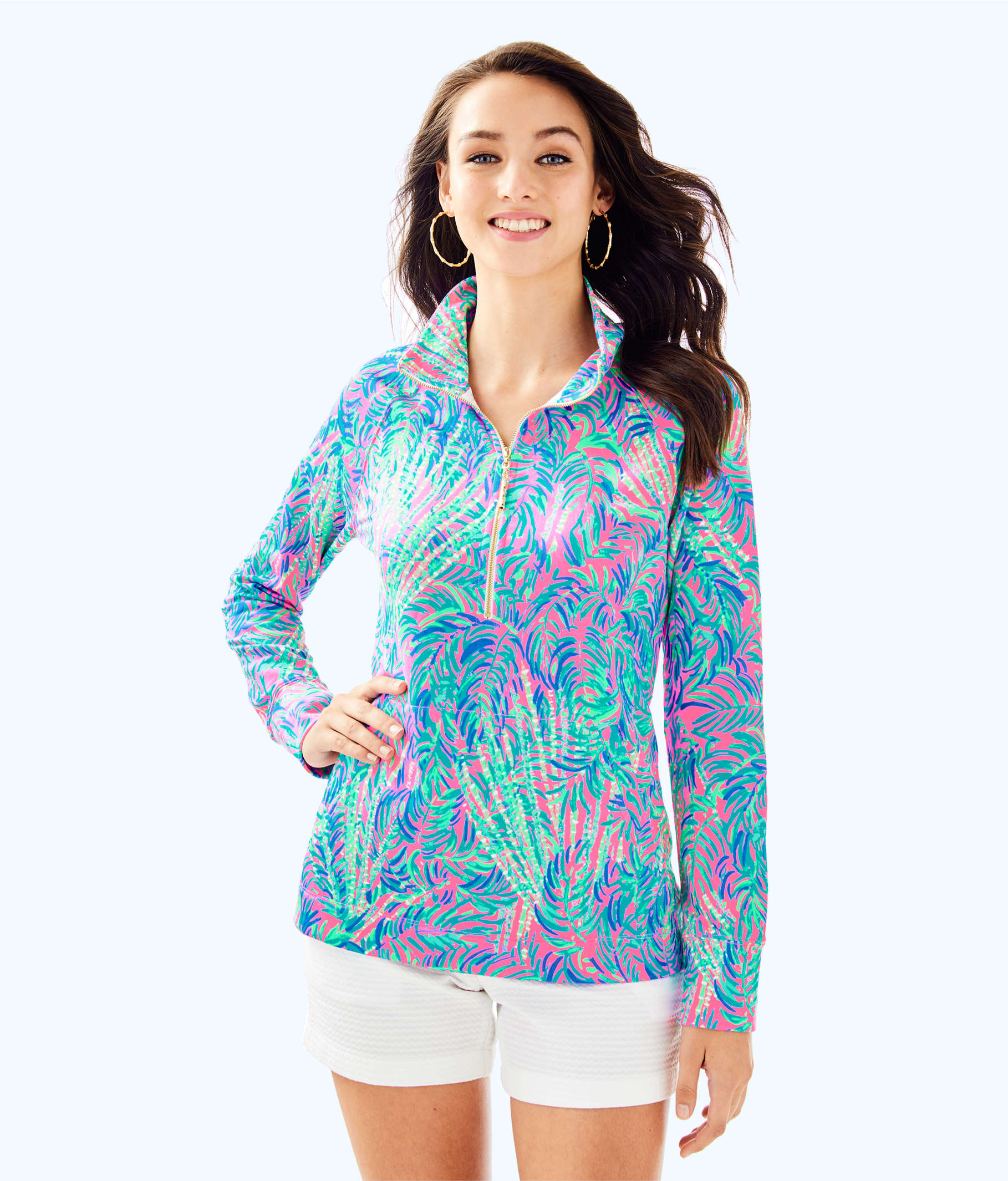 f073ace0421bc6 ... UPF 50+ Skipper Printed Popover, Pink Sunset Coco Breeze, large ...