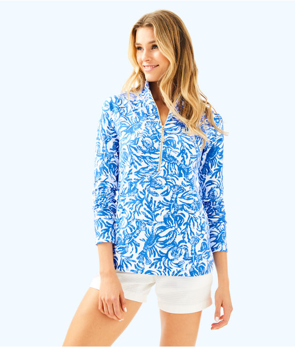 UPF 50+ Skipper Printed Popover, Resort White On A Roll, large