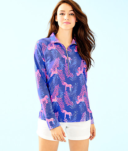 UPF 50+ Skipper Printed Popover, Royal Purple Dazzle, large