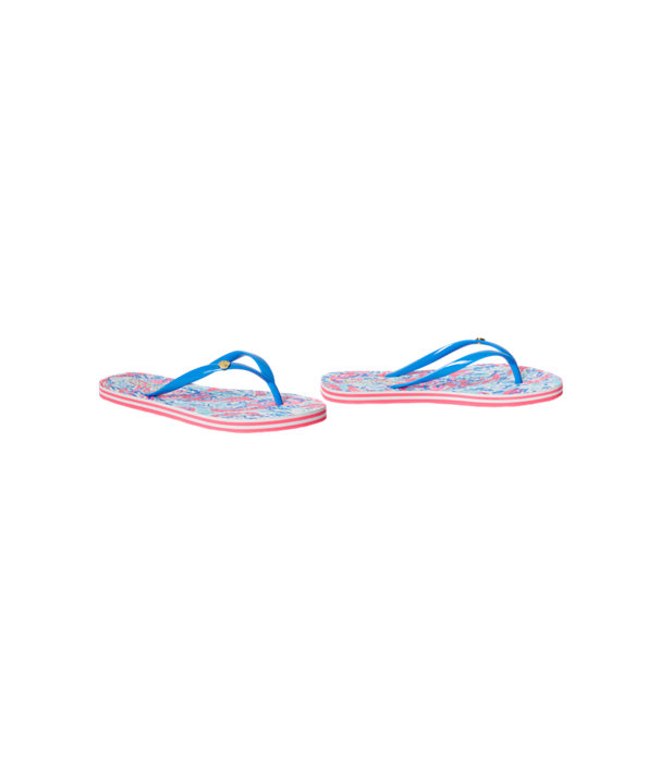 Pool Flip-Flop, Cosmic Coral Cracked Up Shoe, large
